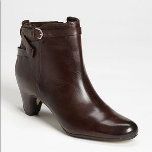 SAM EDELMAN Maddox Brown Leather Ankle Boots Sz 10